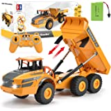 Volvo RC Truck Dump Truck RC Articulated Hauler with Rechargeable Battery 120 Min Play Time RC Toy Construction Truck for All