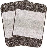 Saral Home Microfiber Bathmat (Brown, 35x50cm, Pack of 2)