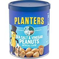 Planters Salt & Vinegar Peanuts (6 oz Canister, Pack of 8)