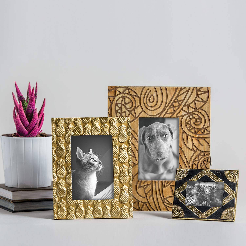 Brown Foreside Home /& Garden FFRD04896 4 x 6 Roam Photo Frame