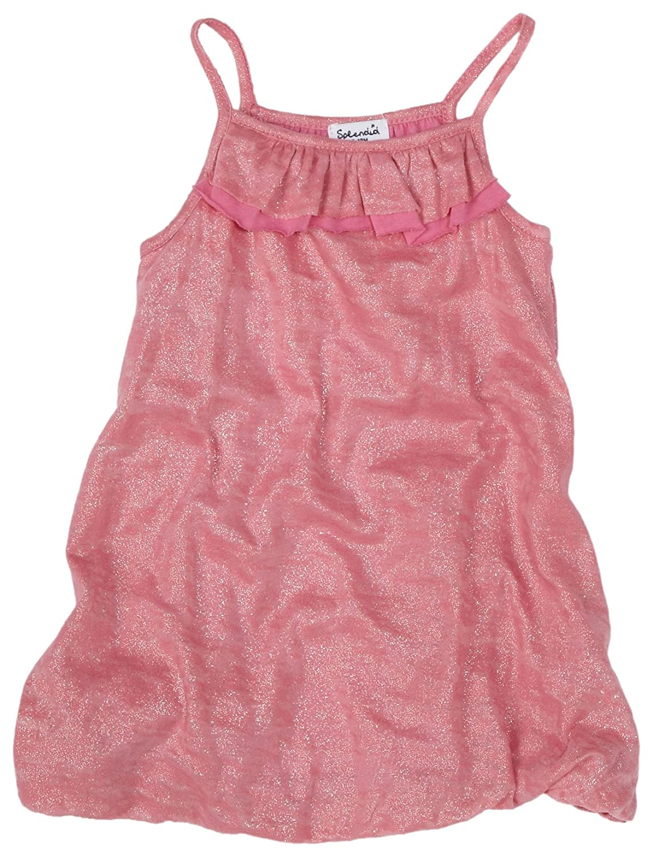 Splendid Littles Metallic Burnout Dress Flamingo