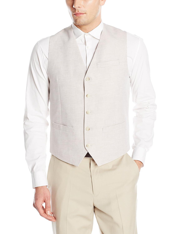 Perry Ellis Mens Linen Suit Vest Perry Ellis Men/'s Sportswear 44HV4450PS-270-Parent