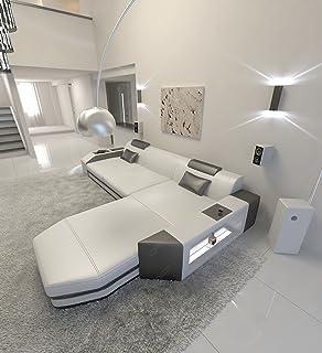 Modern L Shaped Sofa PRATO With LED Lights