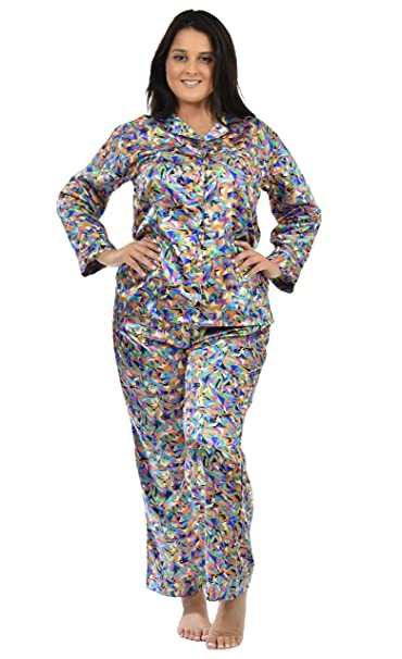 Satin Pajama Sets for Women in Variety of Prints at Amazon Women s ... 247e95cf92