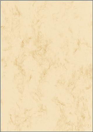 SIGEL DP397 Papel de cartas, 21 x 29,7 cm, 200g/m², mármol beige claro, 50 hojas
