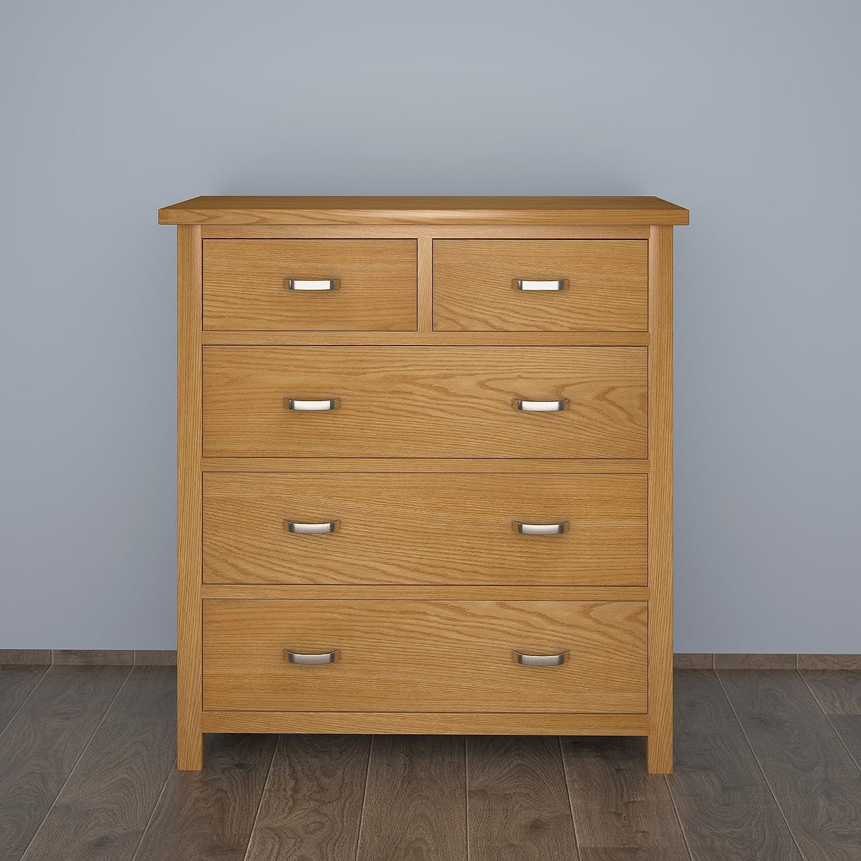 IsEasy Armario Muebles London Oak 2+3 Cajonera Beige, 90x85x38 cm: Amazon.es: Hogar