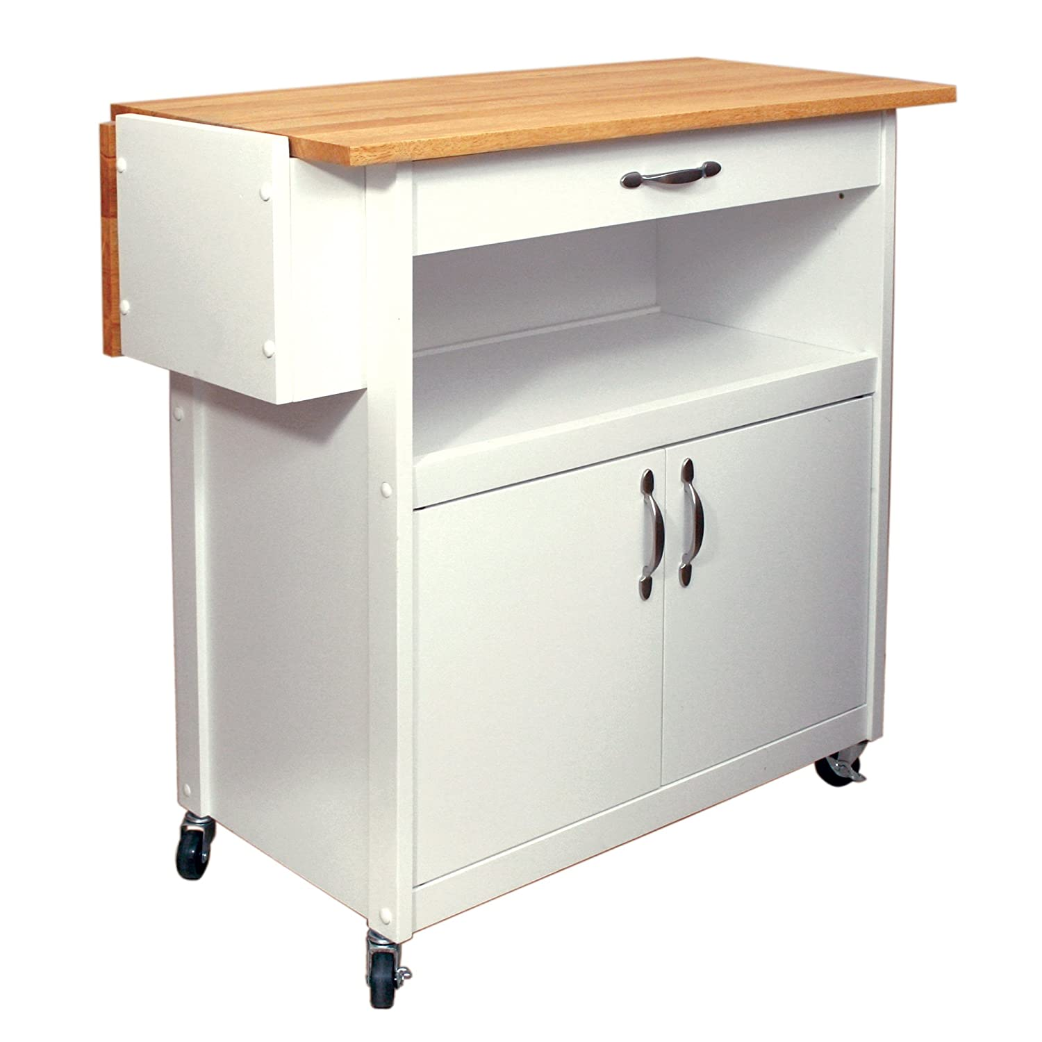 catskill craftsmen drop leaf utility cart kitchen
