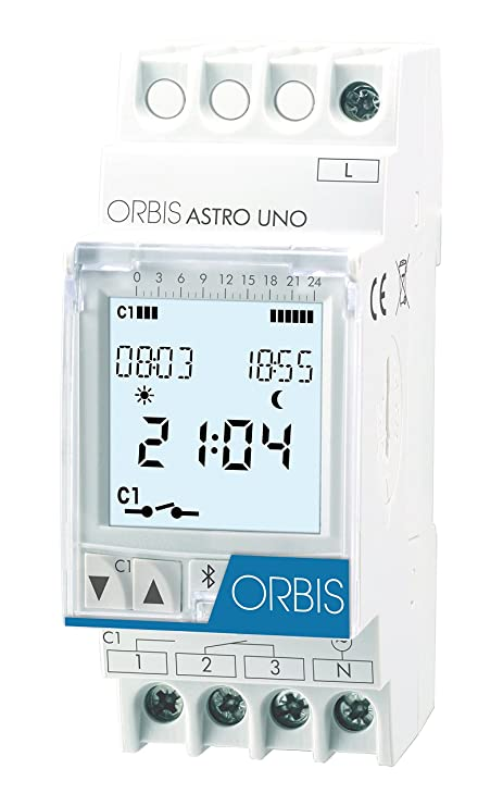 Orbis Astro UNO 230 V Interruptor horario Digital de Distribuidor, OB178112