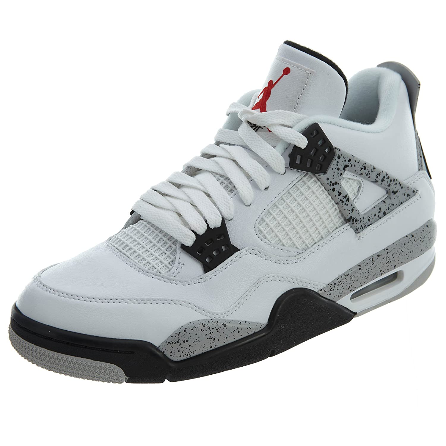 NIKE Air Jordan 4 Retro OG, Chaussures de Sport-Basketball Homme (White/Fire 42 EU|Blanco (Blanco (White/Fire Homme Red-black-tech Grey)) 943bfa