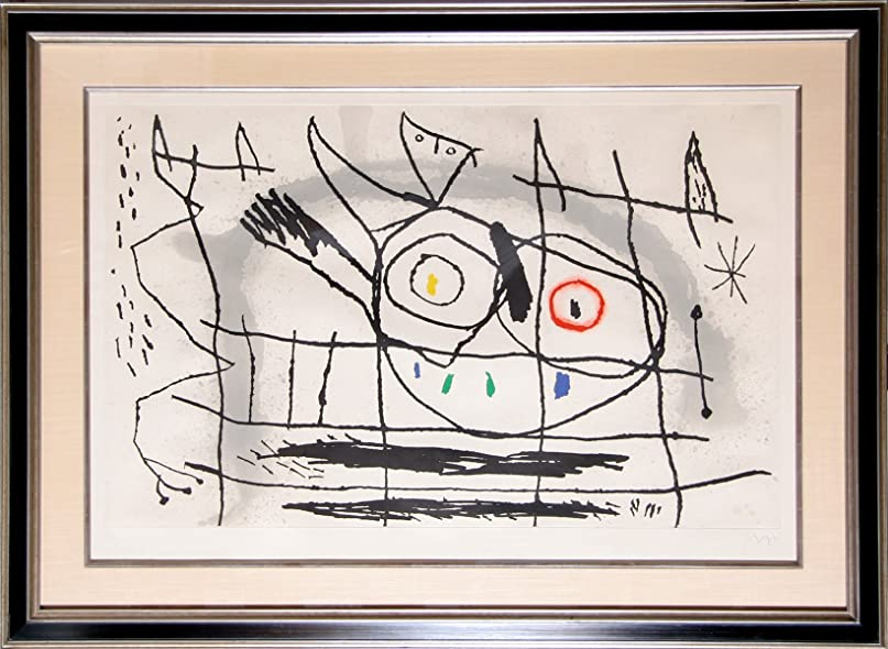 Amazon.com: Couple DOiseaux II: Joan Miro: Fine Art