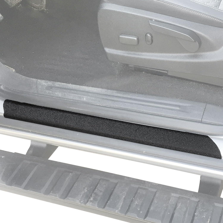 for Chevrolet Colorado Door Sill Protector Carbon Fiber Sticker Door Entry Guard Door Sill Scuff Plate Stickers Auto Accessories 4pcs