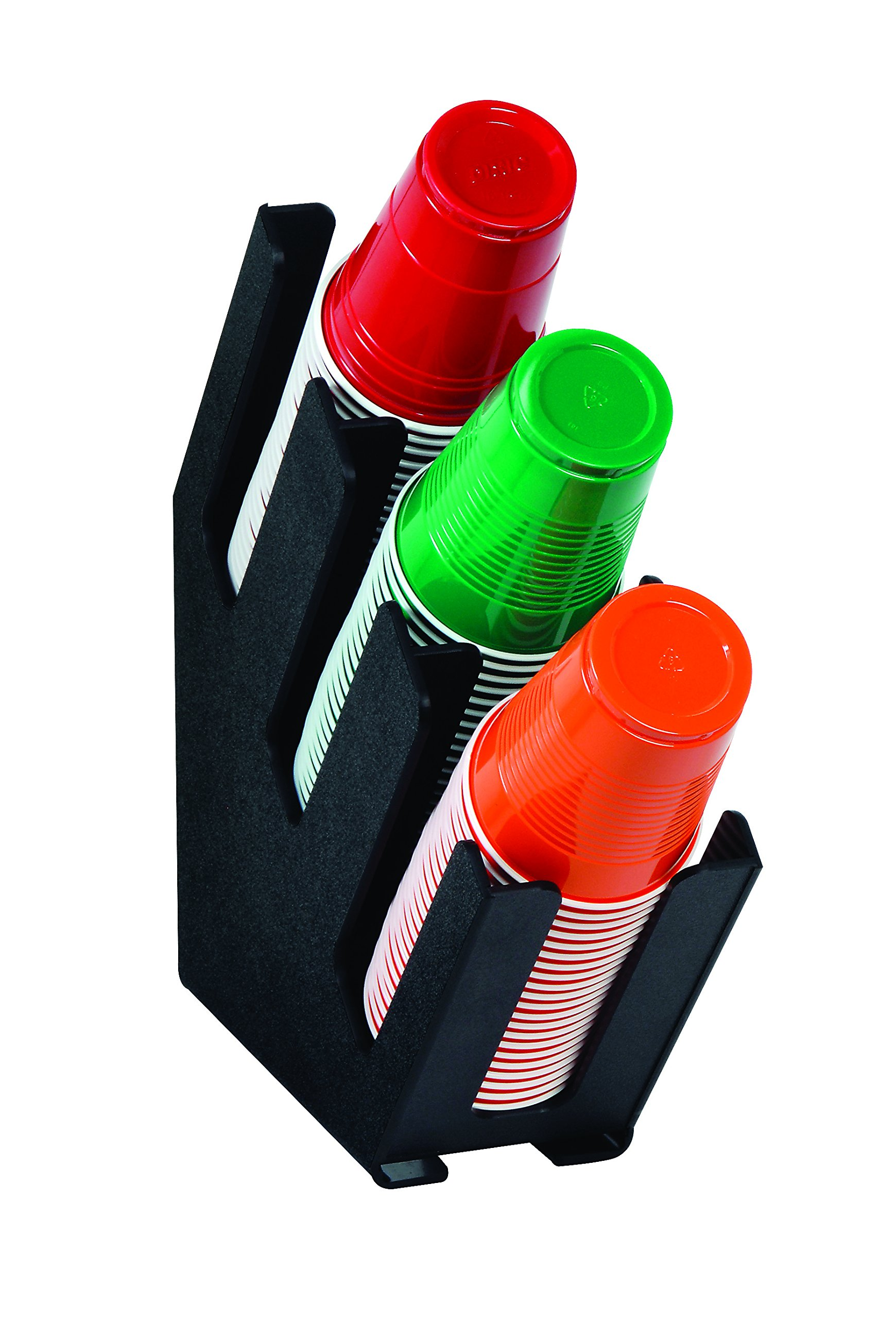 Dispense-Rite LID-3BT Three Section Countertop Cup and Lid Organizer