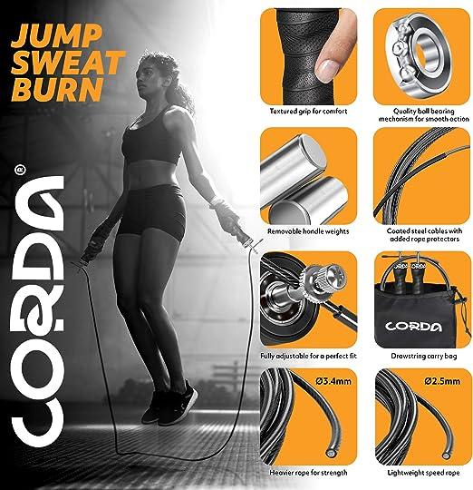 Springseil Geschwindigkeit Überspringen Workout Gym Aerobic Exercise Boxing Pro