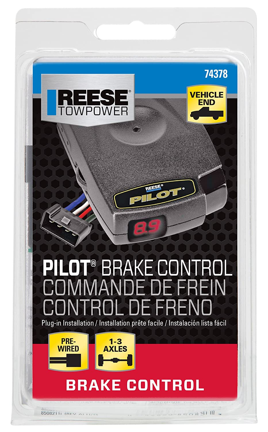 81XG5K1dnhL._SL1500_ amazon com reese towpower 74378 pilot brake controller automotive  at suagrazia.org