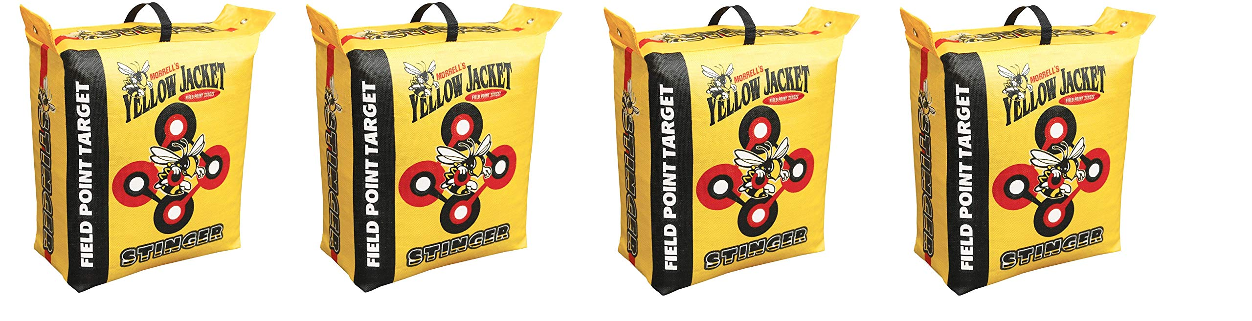 Morrell Yellow Jacket Stinger Field Point Bag Archery Target - Great for Compound and Traditional Bows (4-Pack) by Morrell (Image #1)