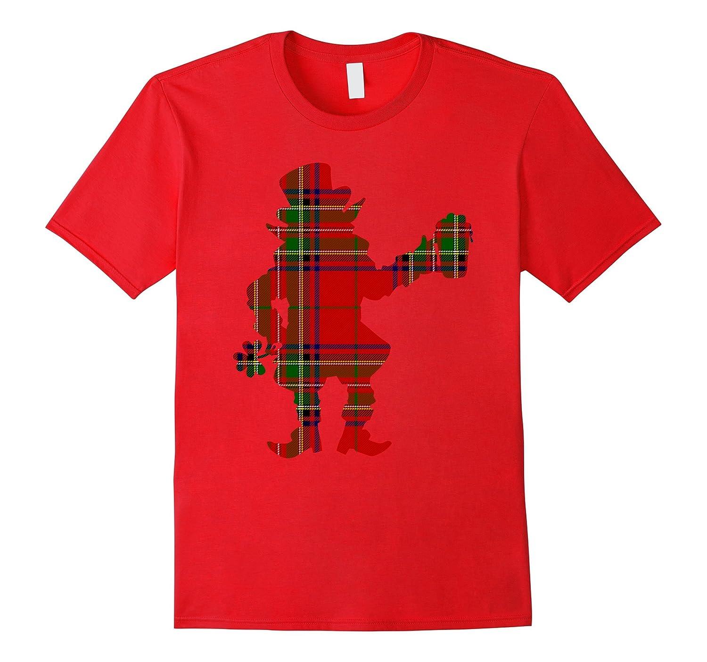 Christmas Leprechaun Irish Patrick Scottish Plaid T-shirt-T-Shirt