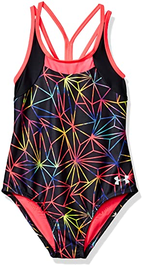 68f6c1d71ac Under Armour Big Girls' Oasis One Piece Swimsuit, Meridian Blue ...