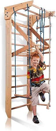 Escalera Sueca Barras de Pared Kinder-4-220, Gimnasia de los niños en casa, Complejo Deportivo de Gimnasia 220x80: Amazon.es: Juguetes y juegos