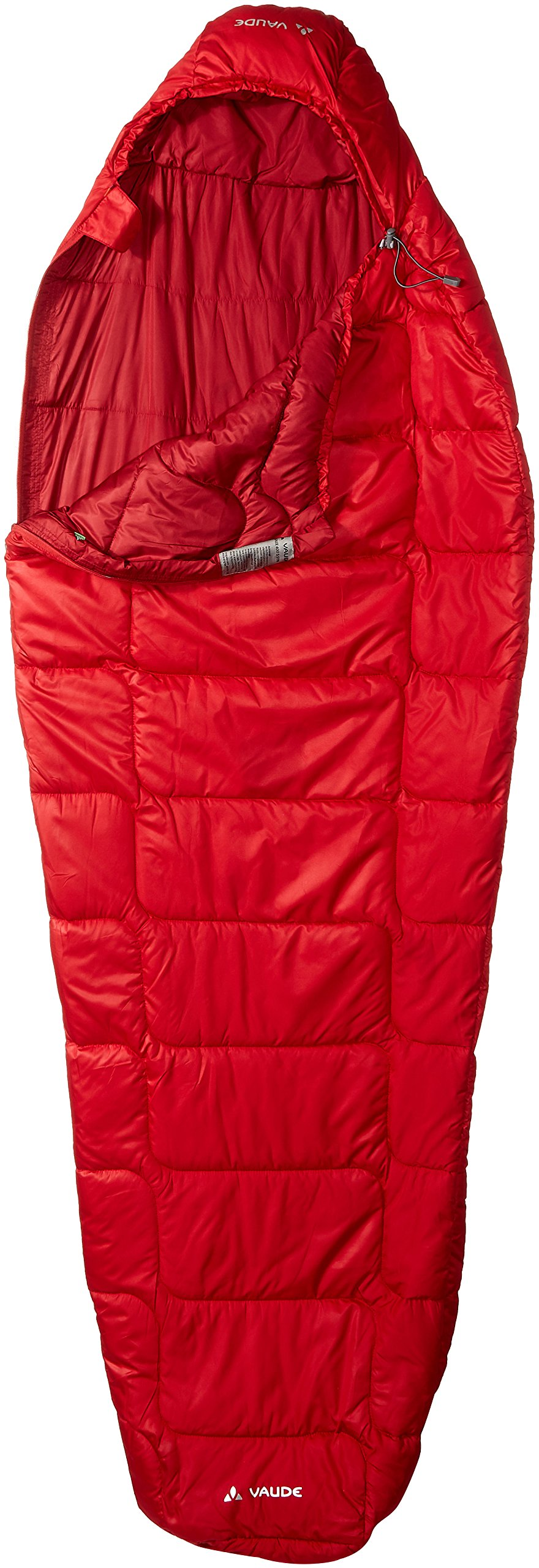 Vaude Women's Sioux 400Syn Sleeping Bag, Dark Indian Red, Left