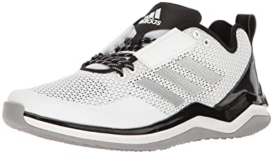 best sneakers 0b6e5 cca4d adidas Men s Freak X Carbon Mid Baseball Shoe Cross Trainer, White Silver  Metallic