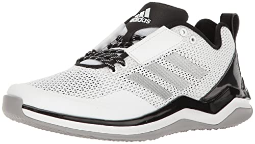reputable site ca368 469cf Adidas Performance Men s Speed 3 Wide Cross-Trainer Shoe, White Silver  Metallic