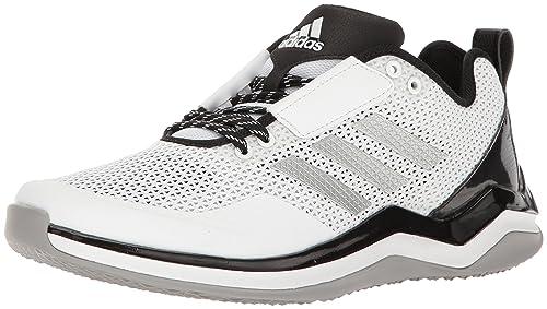 5b7c79d9d adidas Men's Freak X Carbon Mid Baseball Shoe Cross Trainer, White/Silver  Metallic/