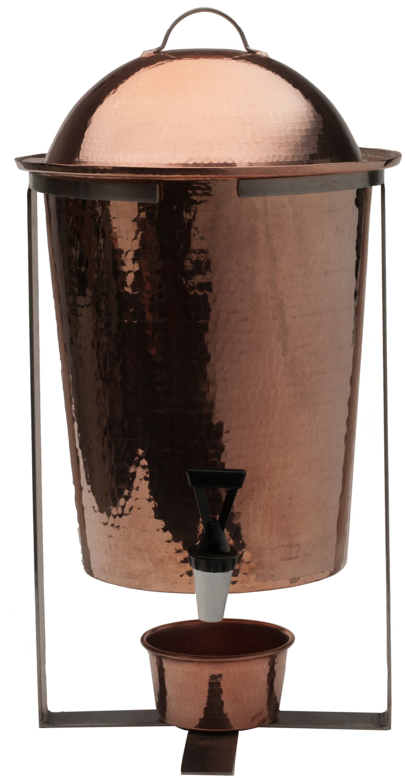 Sertodo Copper, Hand Hammered 100% Pure Copper, Arcadia Beverage Serving Urn with Spout, 13-quart Capacity