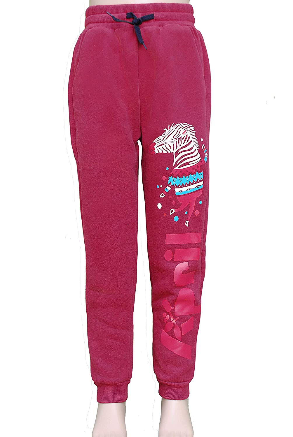 April Kids Horse Jogging Pants for Boys and Girls, Thicker, Unisex Casual Trouser Sweatpants