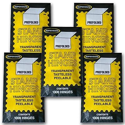 Supersafe Stamp Hinges FIVE Pack -- Total of 5000 Hinges: Toys & Games