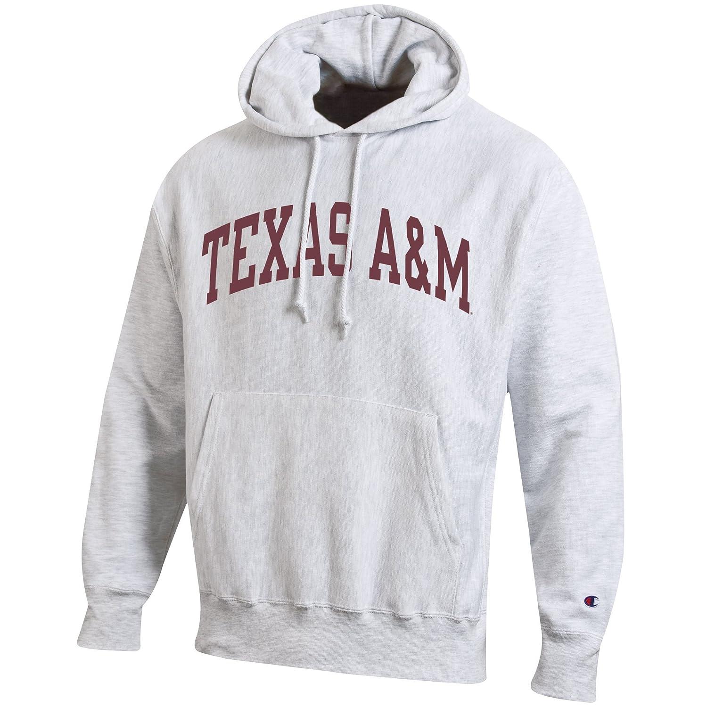cfdee362debe Amazon.com   Champion NCAA Mens NCAA Men s Reverse Weave Gray Arch Long  Sleeve Hooded Sweatshirt   Sports   Outdoors