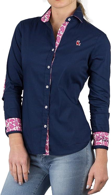 Piel de Toro 42140543 Camisa, Azul (Azul Marino 01), Medium (Tamaño del Fabricante:M) para Mujer: Amazon.es: Ropa y accesorios