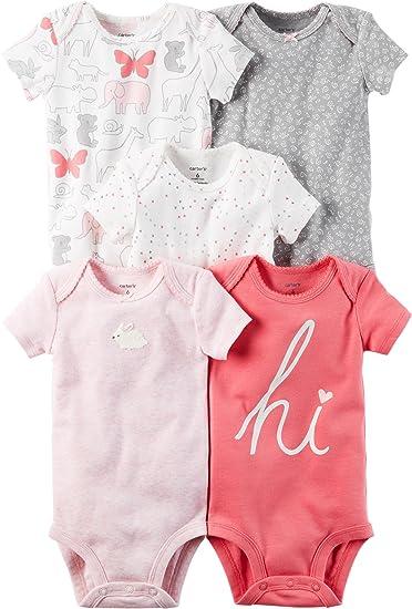 d29724e307106 Carter s Body bébé bébé multi-pack pour bébé fille 6 mois Rose salut ...
