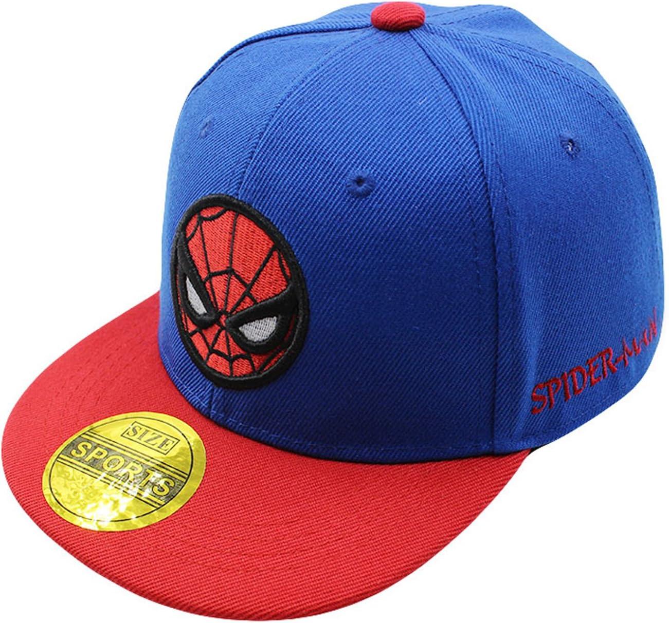 Diluma Kids Spider Man Cartoon Falt Hat Snapback Baseball Cap (Blue): Baby