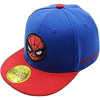 Diluma Kids Spider Man Cartoon Falt Hat Snapback Baseball Cap (Blue)