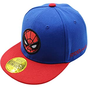 Diluma Kids Spider Man Cartoon Falt Hat Snapback Baseball Cap (Blue) e6d220d8e0d8