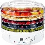 Artus Essicatore digitale per alimenti, 230-260W, 5 scomparti, diametro 32 cm, Bianco