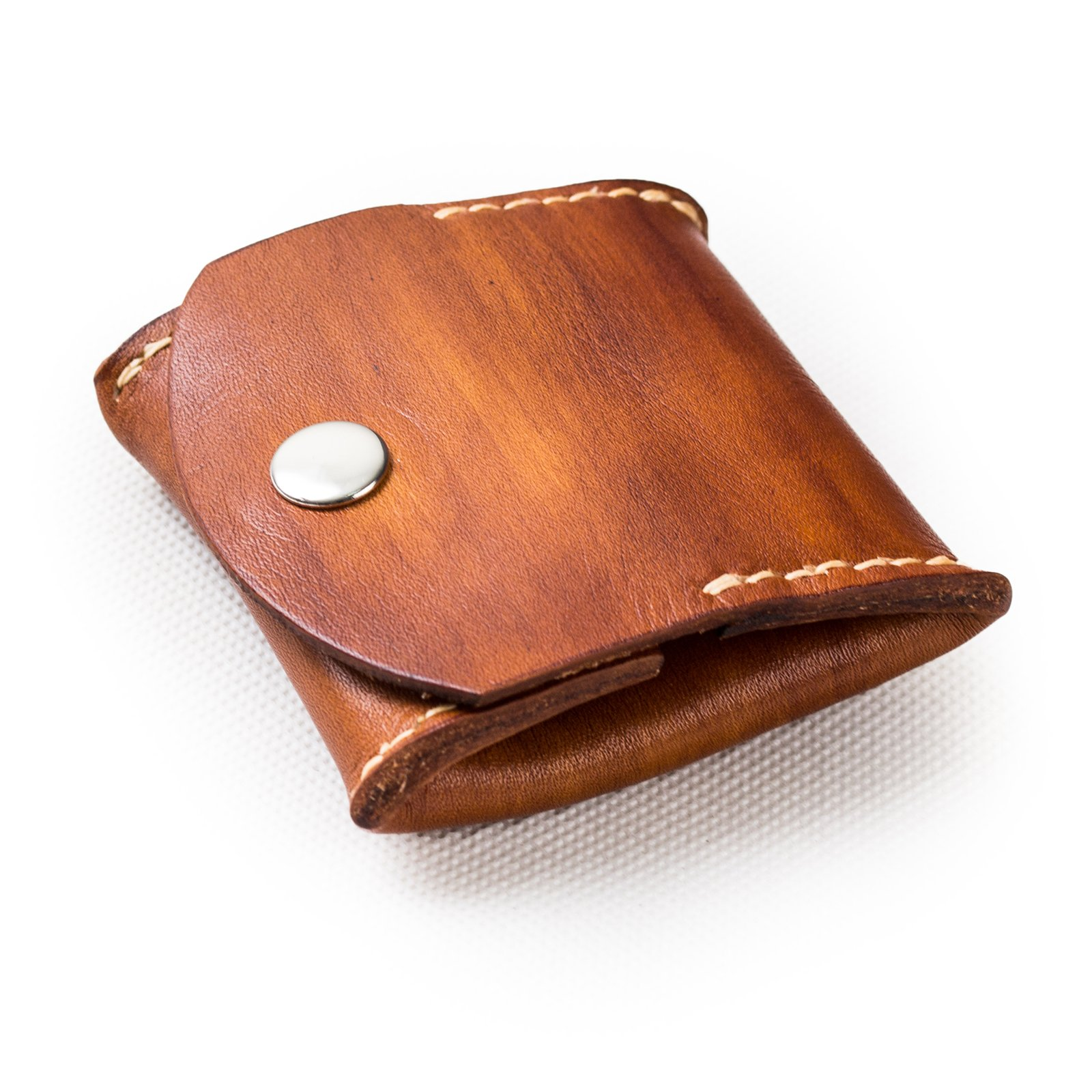 Ancicraft Mens Coin Purse Brown Small Leather Handmade Change Pouch Wallet For Men Women Vintage Gift by Ancicraft