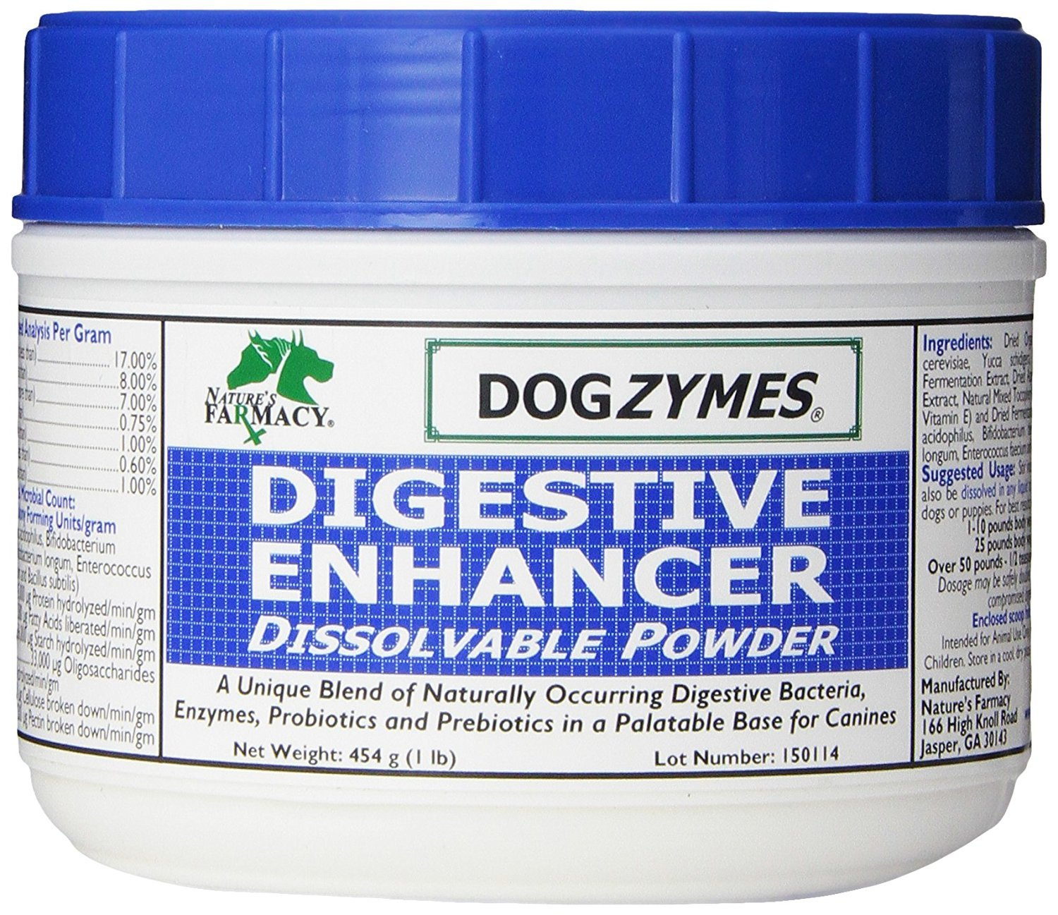 DOGZYMES Dissolvable Powder Digestive Enhancer for Dogs, 1-Pound by Dogzymes