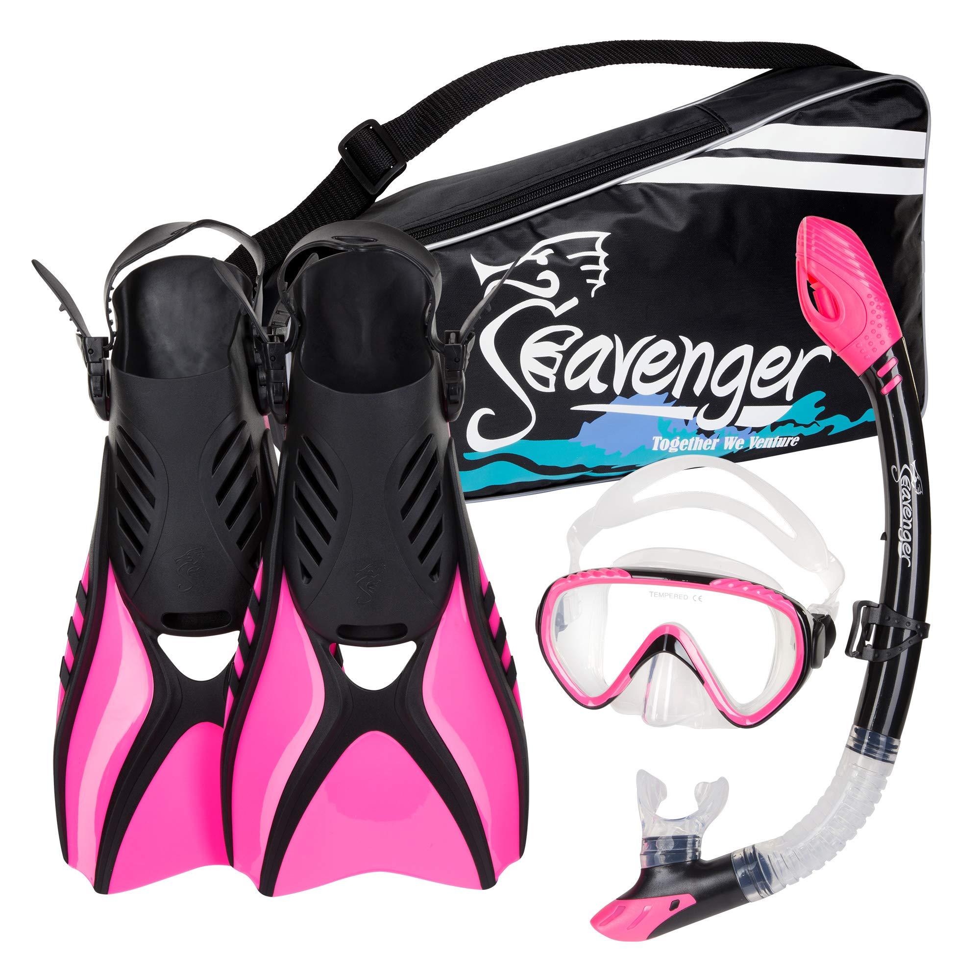 Seavenger Diving Snorkel Set - (Pink) - L by Seavenger