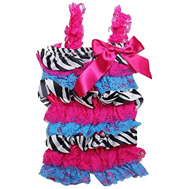 4d6a919d16a6 Amazon.com  Kirei Sui Baby Girls Printed Ruffled Romper  Clothing