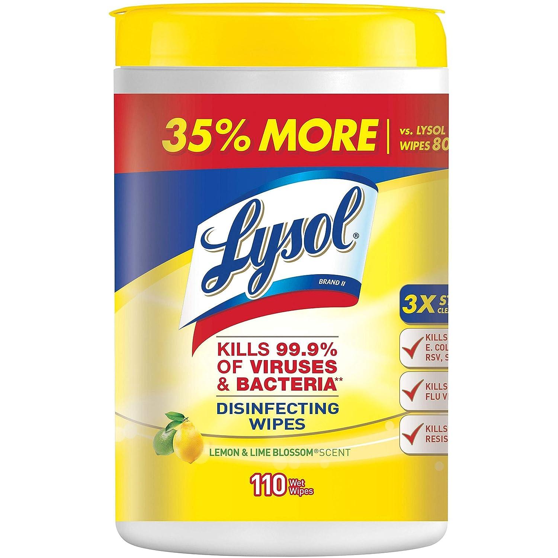 RAC78849CT - Sanitizing Wipes, 110 Wipes, 6/CT, Citrus Scent by Lysol [並行輸入品]   B0145N817Q