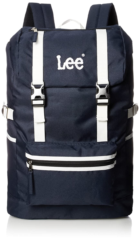 [リー] リュック 軽量 Leeロゴ刺繍 フラップ型 320-4800 B077CZPCMB ネイビーボディ×ホワイト ネイビーボディ×ホワイト