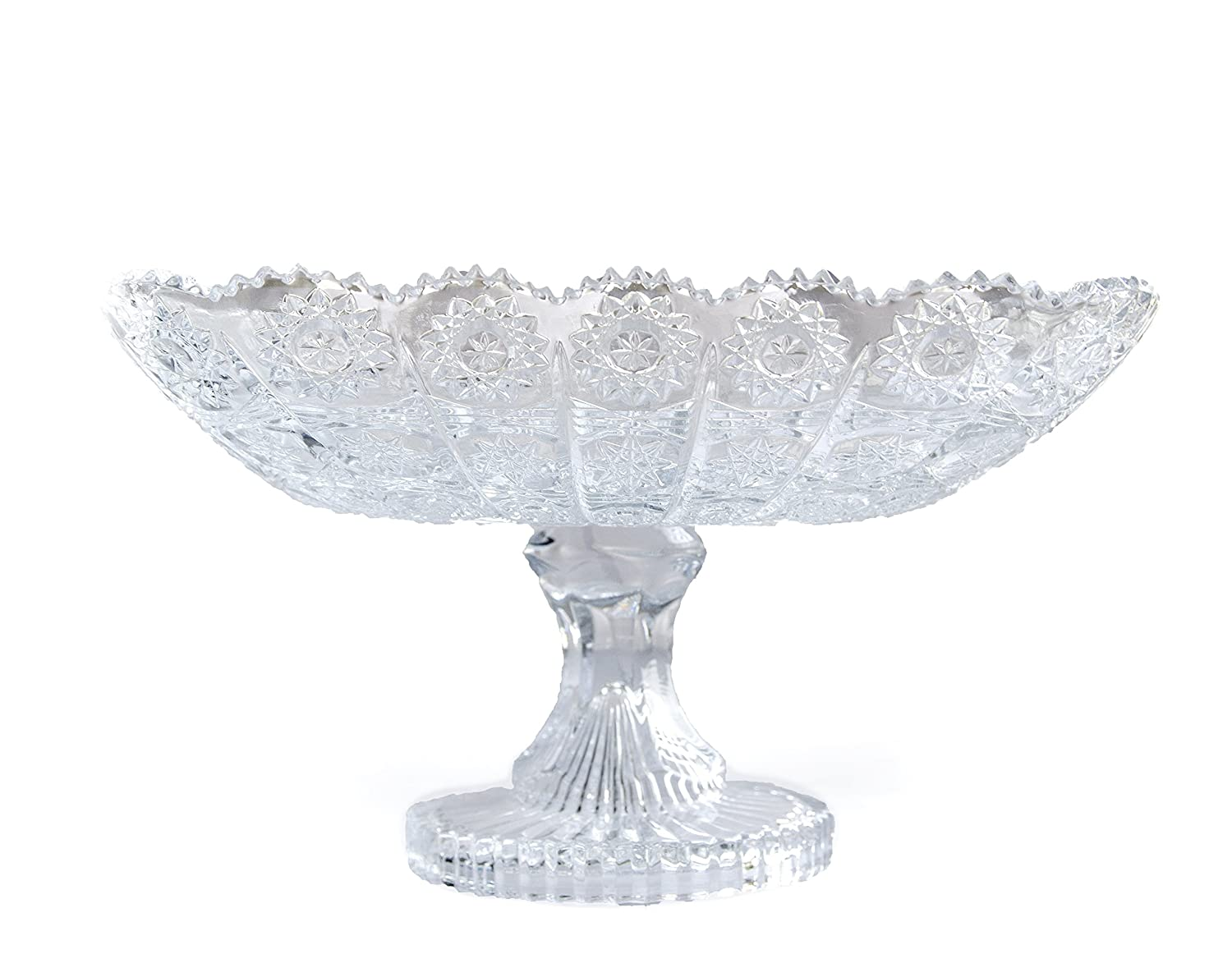 New 2018 Elegant Crystal Glass Serving Footed Square Bowl for Home, Office, Dé cor, Serving Fruit or Desert Pars Collections YK-0712