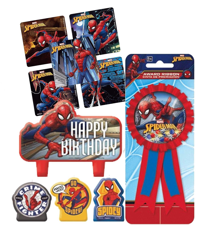 Juego de Velas para Tarta de cumpleaños con diseño de Spider ...
