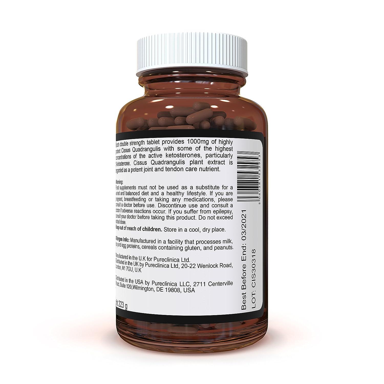 Cissus Quadrangularis Doble Potencia 1000mg x 180 Cápsulas Vegetales: Amazon.es: Salud y cuidado personal