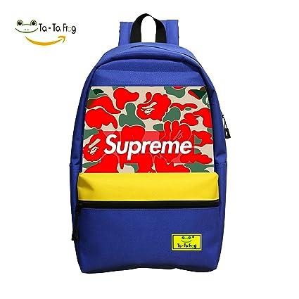 Cute supreme-pattern mochila escolar mochila para niños y niñas