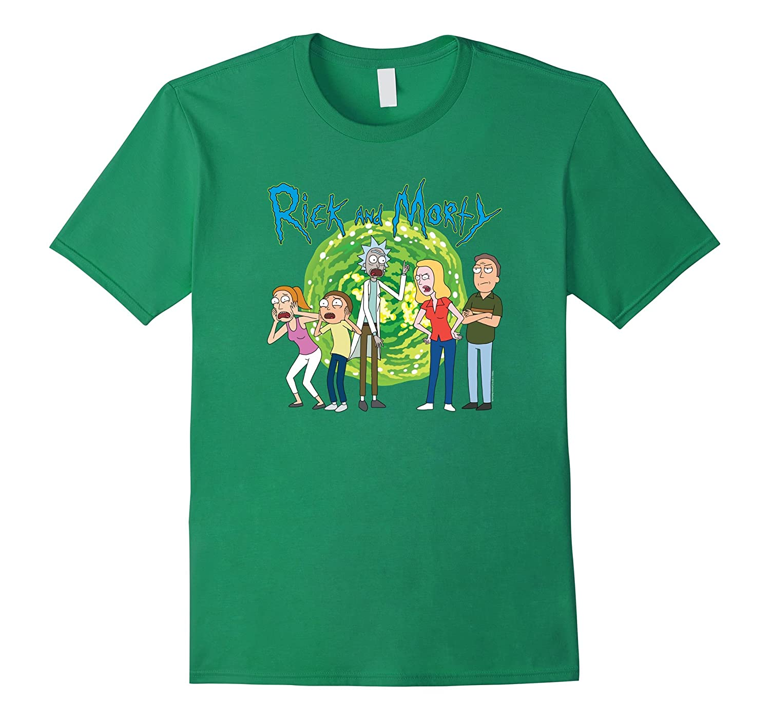 Rick  Morty Family Group Portal with Logo-TD