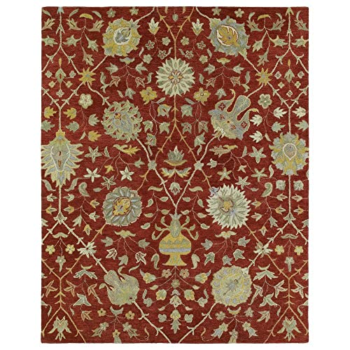 Kaleen Helena Collection Hand Tufted Area Rug, 4 x 6 , Red