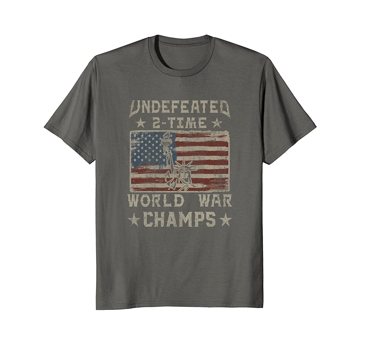 Undefeated 2 Time World War Champs July 4th Flag T-Shirt