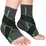 2 Packs Breathable Ankle Brace, Ankle Support Sleeve with Compression Ankle Wrap for Plantar Fasciitis, Ankle Sprain…